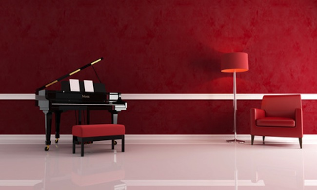 luxury music room