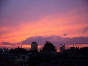 夏至の夕焼け