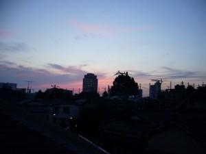 梅雨の合間の夕焼け