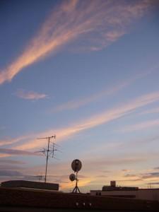 全方向的夕焼け